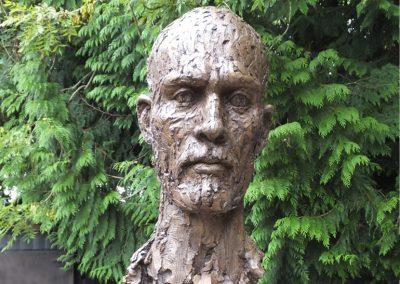 Head of Piers, cold cast bronze
