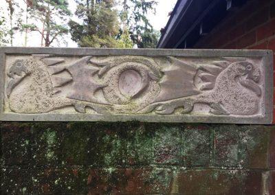 Dragons, Portland stone (74.5x20x7cm)  £300