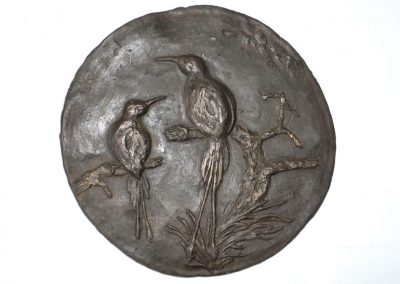 Bird Relief (plaque), ciment fondu, 1 of 6, £150