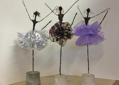 Ballerinas, wire & fabric (sold)
