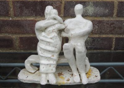 After Henry Moore, fired clay with stoneware glaze