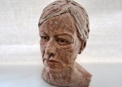 Sarah, fired clay (23cm x 36cm x 23cm)