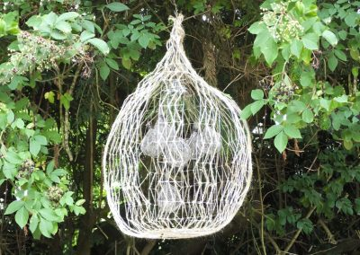 Seed Pod 1 (wire & jute) Outdoor sculpture approx 70x50cm, £95