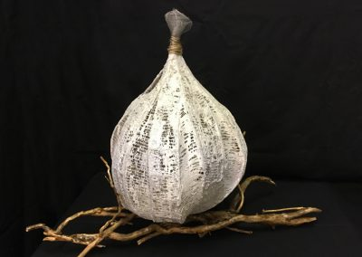Seed Pod 2 (wire, plaster & ivy root) Indoor sculpture 70x55x30cm £95