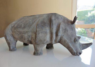 Rhino, ciment fondu (sold)