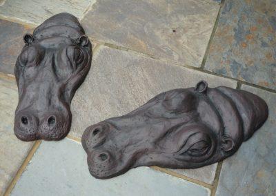 Hippos, ciment fondu, £225 (pair)