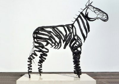 Zebra, mesh & wire (sold)