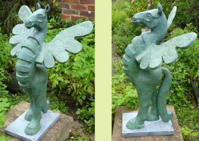 Pegasus, cement & resin (100cm)