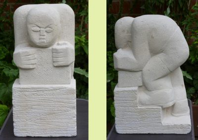 Builder, carved thermalite (45cm)