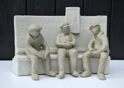 Conversation, fired clay