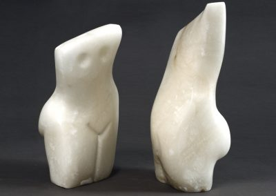 Conversation, alabaster, 36cm high