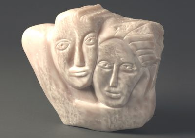 Salad Days, rose alabaster, 31cm high