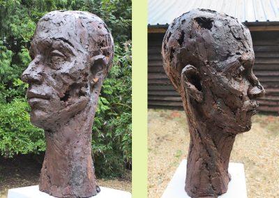 What Makes a Head? cold cast bronze