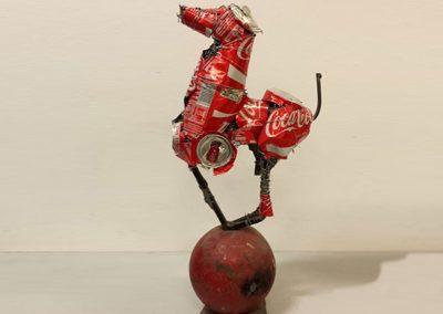 Cola Horse, mixed media