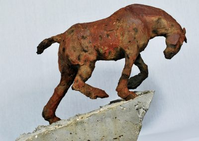 Plough Horse, cold cast iron & cement (sold)
