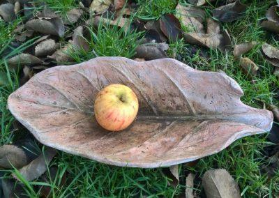 Leaf, ciment fondu