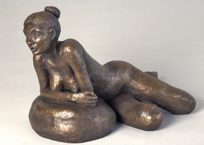 Reclining Nude, bronze resin (35cmH x 49cmW)