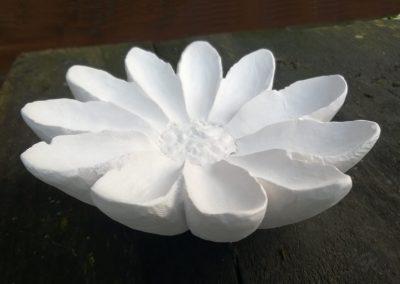 White Flower, plaster