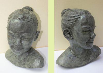 Portrait of Amy, ciment fondu (private collection)